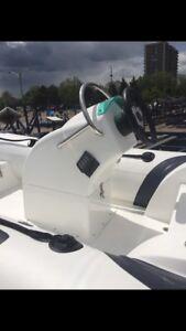 Center console fibreglass bottom dinghy with trailer