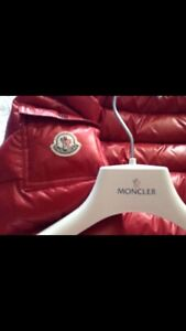 Selling a red moncler jacket