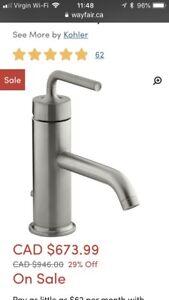 Kohler Purist SDB robinet faucet bathroom NEW