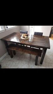 Table and matching bench