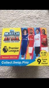 Match Attax 2017/18 Premier League Full Box New 50 Packets