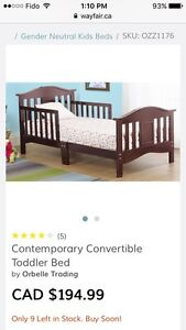 Orbelle Baby Toddler Bed and Mattress