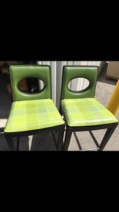 "2 green barstools 29"" high London Ontario image 2"