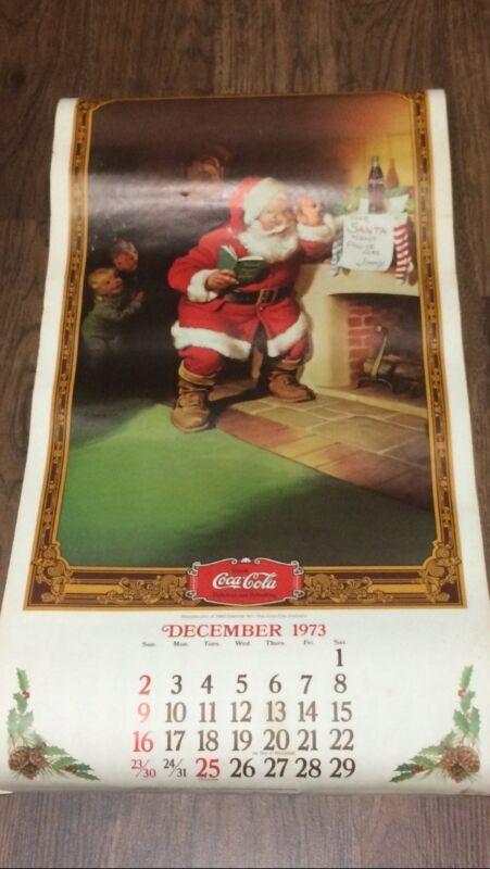 1974 Coca Cola  Hanging Calendar