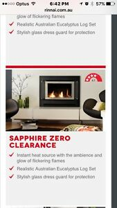 Fireplace Rinnai Saphire/Slimfire Gas SUPPLIED/INSTALLED package Adamstown Newcastle Area Preview