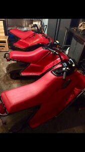 3 kids Yamaha sno scoot