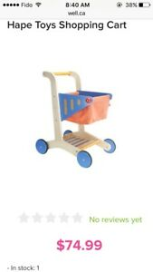 Hape Toy Shopping Cart -Wood