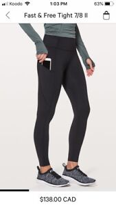 Fast and Free lululemon tights