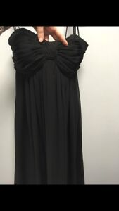 Strapless Alfred Angelo black bridesmaids dress size 10
