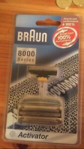 Braun 8000 series replacement blades with activator