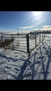10' gate with 24' free standing panel