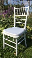 Chiavari Chairs for rent and other wedding decor and services