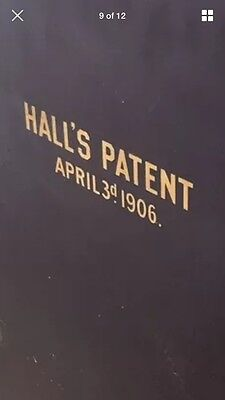 Hall's Patent Antique Safe Lettering, Emblem, Decal, Gold Metallic