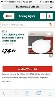 3 x ceiling oyster lights  Springfield Ipswich City Preview