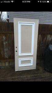 36 by 80 Exterior Steel Door!!