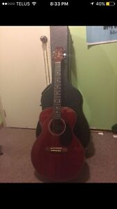 Segovia acoustic guitar with Jasmine hard case