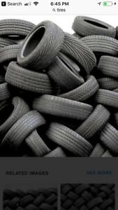 Approximately 400 tires for wholesale