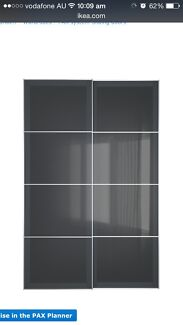 Ikea PAX sliding doors for wardrobe Terrigal Gosford Area Preview
