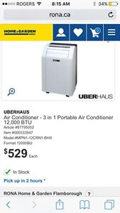 Air conditioner/dehumidifier brand new used less than a mnth