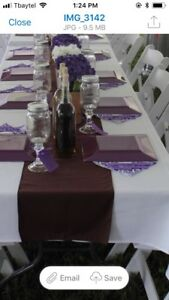 Table runners (brown)