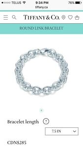 Authentic Tiffany & Co. Round Link Bracelet