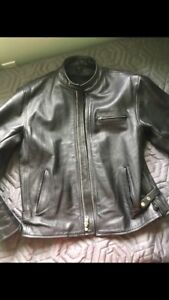 L/XL leather motorcycle jacket