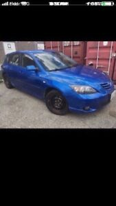 2004 mazda 3 part out color blue hatchback 2.3L
