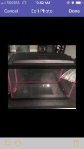 5.5 gallon aquarium, lid and filter