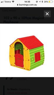 Toddler cubby house