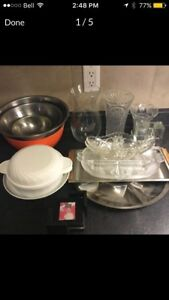 Bowls casserole dish vases and serving trays