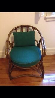 Lovely green and dark cane chair Neutral Bay North Sydney Area Preview