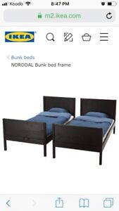 2 twin bed frames - Ikea Norddal