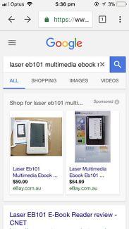 Laser eb101 multimedia ebook reader
