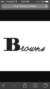 BROWNS SHOES GIFT CARD -$50