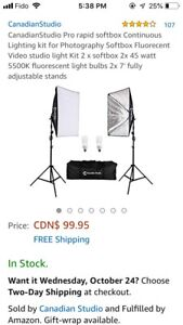 Canadian Studio light kit- Photography