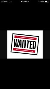 Wanted cargo trailer 8.5'x20'