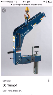 Schlumpf overhead crane attachment/wheel turner