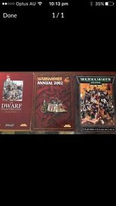 GAMES WORKSHOP/WARHAMMER BOOKS Browns Plains Logan Area Preview