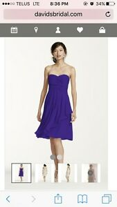 Davids bridal bridesmaid dress F14847 size 4 colour regency