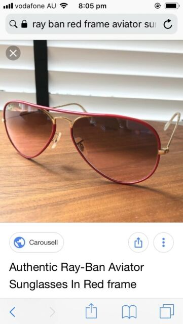 9527ad2807 Rayban aviator sunglasses Red and Gold frame USED TWICE ...