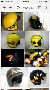Looking to buy vintage skidoo helmet , clothing , skidoo ect