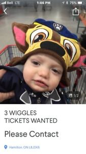 3WIGGLES TICKETS WANTED