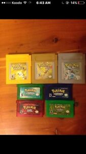 pokemon games gameboy/ds