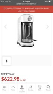 NEW KITCHEN AID MAGNETIC DRIVE BLENDER FROSTED PEARL