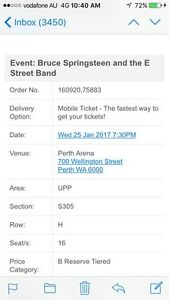 **BRUCE SPRINGSTEEN PERTH ARENA PRESALE TICKET AVAILABLE Burns Beach Joondalup Area Preview