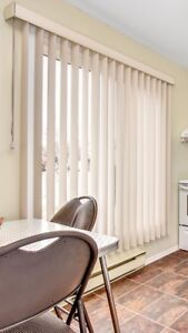 "Vertical blinds 57"" x 74"""