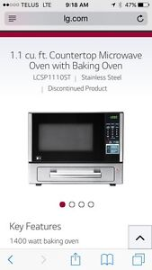 Lg microwave with baking oven
