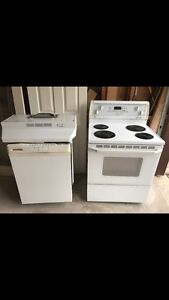 Electric stove dishwasher fan white excellent condition