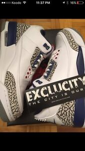 Air Jordan 3 True Blue size 9.5 TRADE for size 10