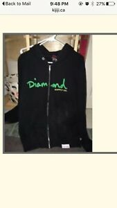 Diamond Zip up Hoodie